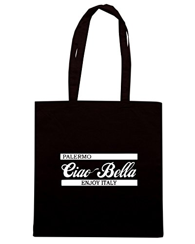 T-Shirtshock - Borsa Shopping OLDENG00441 ciao bella palermo green Nero