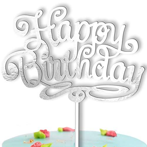 Kuchen Topper Geburtstag Happy Birthday - Tortendeko Geburtstagskuchen Tortenstecker