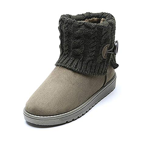 Frauen Warme Schneeschuhe Stiefeletten Winter Slip-On Wildleder Taste Dicken Sohlen Baumwolle Schnalle Plattform Pelz Komfort Schuhe -