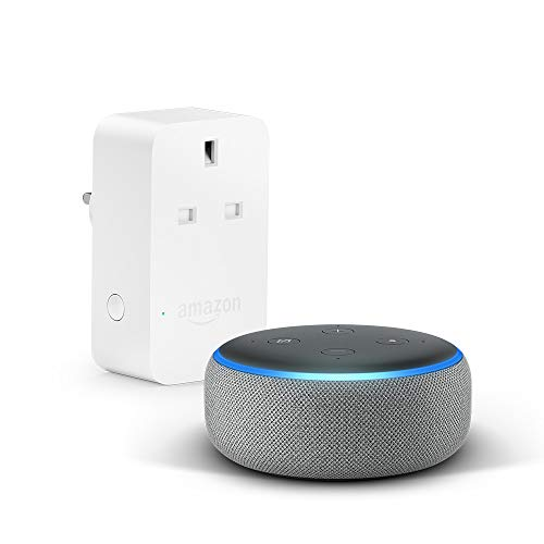 All-new Echo Dot (3rd Gen), Grey + Amazon Smart Plug, Works with Alexa