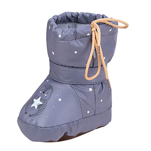 Kleinkind-Kinderschneestiefel Kinder Mädchen Jungen Winter Cartoon Schuhe Erster Spaziergang Schuhe