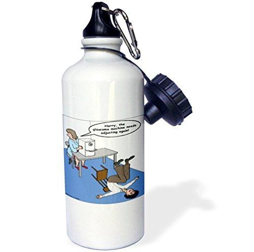 Moson Sport-Trinkflasche, Geschenk für Kinder, Mädchen, Jungen, Augenärzte, Glaucoma-Test, Edelstahl, für Schule, Büro, Reisen, 535 ml