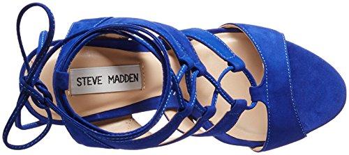 Sandalo Steve Madden Sandalia nabuk rosa cipria con lacci Blue Nabuk