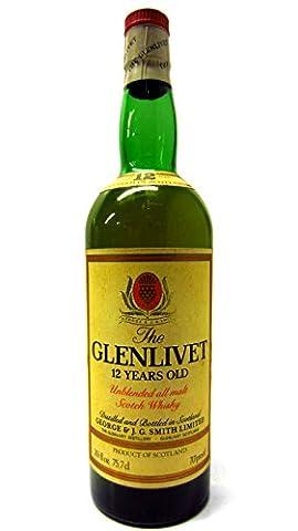 Glenlivet - Unblended All Malt Scotch (old bottling) - 12 year old Whisky