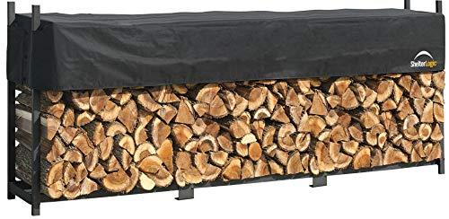 ShelterLogic Ultra Duty Firewood Rack with Cover, 12-Feet by ShelterLogic