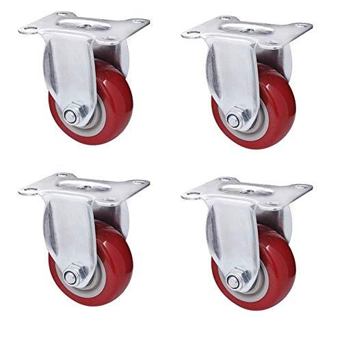 Universal casters Ggshop 4 * Heavy Duty Gummi Lenkrolle MöBel Mit Bremse 400 Kg 75mm Mit Bolzenmutter Roller Compactor Rad -