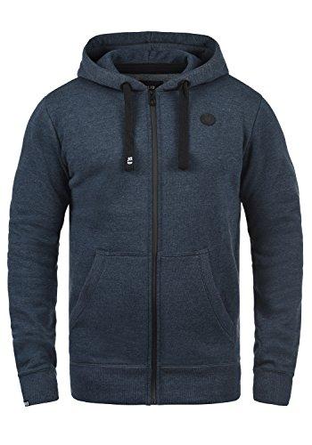 SOLID Bene Herren Sweatjacke Kapuzen-Jacke Zip-Hood aus einer hochwertigen Baumwollmischung, Größe:XL, Farbe:Insignia Blue Melange (8991) (Fleece Shorts Sweat)