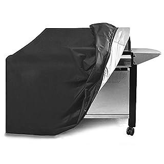 BBQ Grillabdeckung, APOGO Grill-Abdeckhaube Schutzhuelle Haube Wetterschutzabdeckung BBQ Cover für Grill Smoke Barbecue Gasgrill—Schwarz (170*61*117CM)