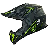 Broken Head Squadron Rebelution camouflage grau Cross-Helm - MX Motocross Helm - Quad-Helm -...