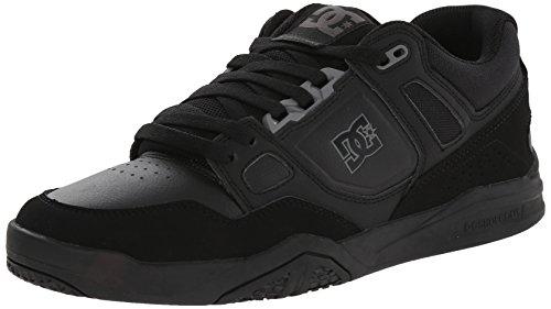 DC Men's Stag 2 Skate Shoe, Black, 6 M US