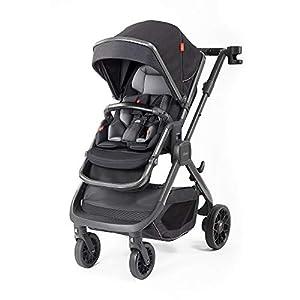 Diono Quantum2 3-in-1 Luxury Muti-Mode Stroller, Black Cube   4