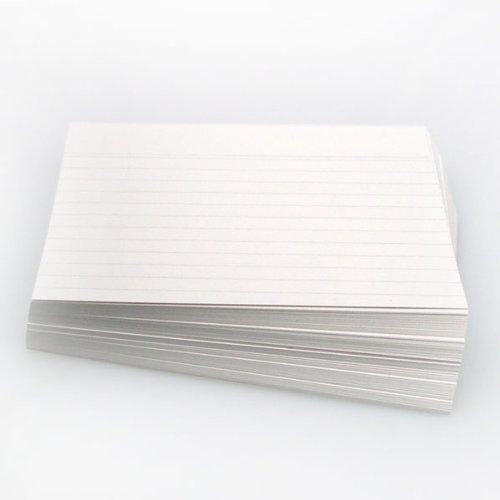 Office Line Karteikarten, weiß, 190 g, DIN A5, 100 Stück, liniert