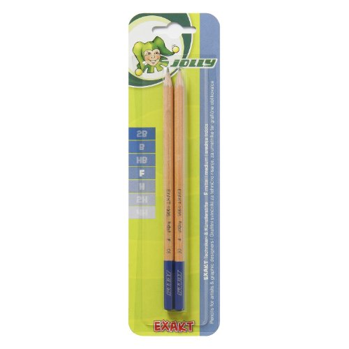 Jolly Exakt Bleistift, Härtegrad F, graphit/natur (2 Stück)
