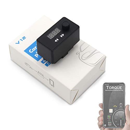 ZZKJBox OBD2 OBDII Auto-Diagnosescanner-Werkzeug für Android und IOS mit Bluetooth MP3-Musik-Spieler/Unterstützungs-TF-Karte, Auto/SUV/MPV Universalität