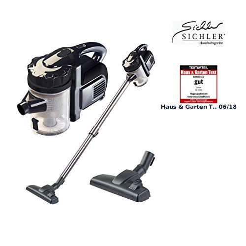 Sichler Haushaltsgeräte Akku Handstaubsauger: 2in1-Akku-Zyklon-Staubsauger, Aufsatz-Bürste & Aluminium-Rohr, 25,2 V (Aku Staubsauger)
