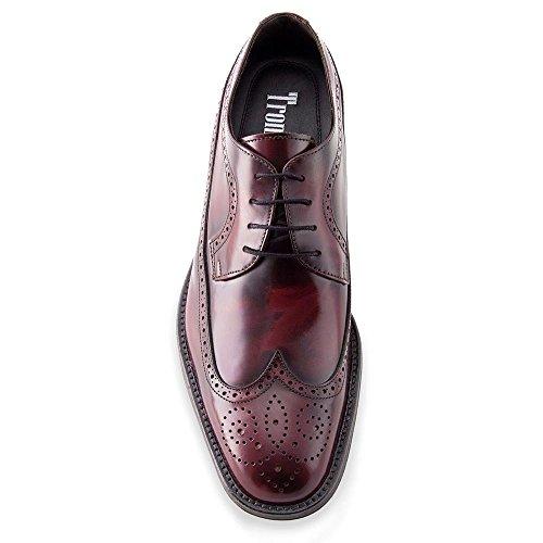 Masaltos Chaussures Réhaussantes Pour Homme avec Semelle Augmentant la Taille JusquÀ 7cm. Fabriquées en Peau, Modèle London Bordeaux
