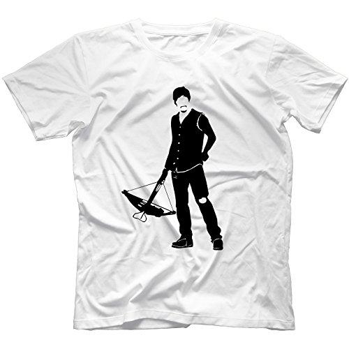 Daryl Dead T-Shirt Uomo Bianca