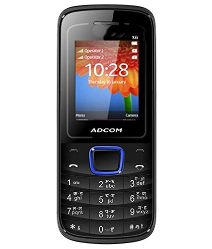 Adcom X6 (freedom)dual Sim Mobile-black + Blue