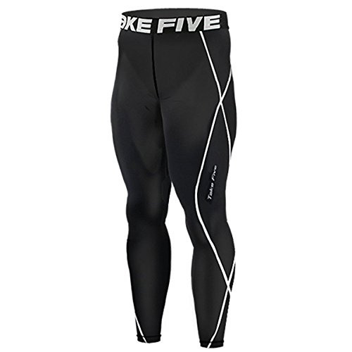 new-011-skin-tights-compression-leggings-base-layer-black-running-pants-mens-2xl