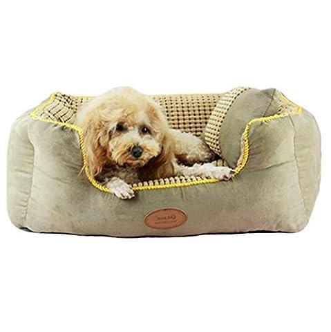 Yuno Pet Übergroße waschbar atmungsaktiv Gesunde Gepolsterte Feuchtigkeit Proof Pet Nackenrolle Bed Hundebett & Lounge