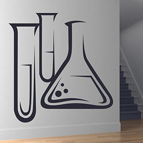 Scienza Provette Chimica Formazione Wall Sticker Scuola Aula decalcomania di arte disponibile in 5 dimensioni e 25 colori Extra Grande Giallo limone