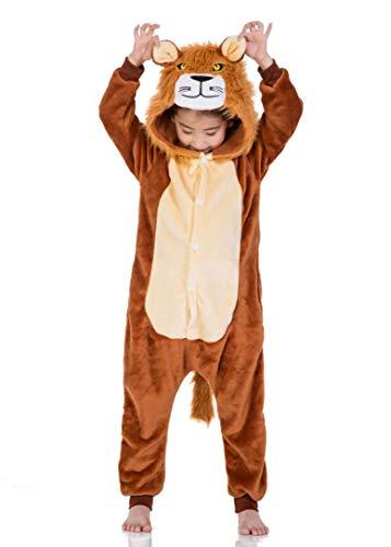 a3d3bf968e Pigiama Intero Bambina Tuta Intera Unicorno Bambini Ragazzi Unisex Cosplay  Animale Pasqua Halloween Regalo (XXL (Altezza: 51.2