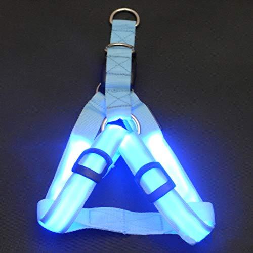 Leepesx LED leuchten Hundegeschirr No-Pull Haustiergeschirr Outdoor-Haustier leuchtender Brustgurt für Hunde Easy Control für kleine mittelgroße Hunde Beste Tierbedarf