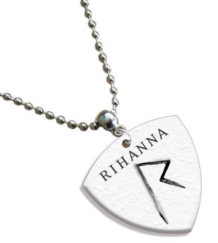 Bedruckte Plektren Company Rihanna Kette/Halskette Bass Gitarre Plektrum beide Seiten bedruckt