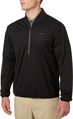 Golf Regen Kleidung (Slazenger Herren Tech Bomber Regen Golf Jacke, Herren, Schwarz, Small)