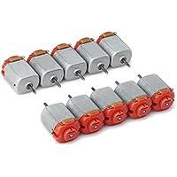 DROK® 10 Piezas Micro DC Motor 130 Cubierta trasera Rojo, 3-6V Motores de coche 16500 RPM Ultra Alta Velocidad DIY Gadgets, Adecuado para coches de juguete teledirigido / Tracción a las cuatro ruedas / Experimentos científicos