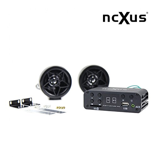 A-510 AU - 12V Motorrad MP3 FLAC APE FM Player USB SD mit Aussenlautsprechern + Kabelfernbedienung, Update von A-500 510 Mp3