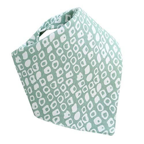 aby Dreieckstuch Lätzchen Unisex Designed Baumwolle Halstücher Spucktuch Speichel Handtuch mit Druckknöpfen,Maße:31cmx31cmx43cm ()