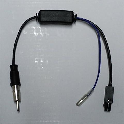 Adaptador Antena con amplificador de señal / Radio Estéro de Coche Cable Fakra a DIN valido para Audi BMW Skoda VW Seat Opel Renault Citroen Peugeot Mercedes