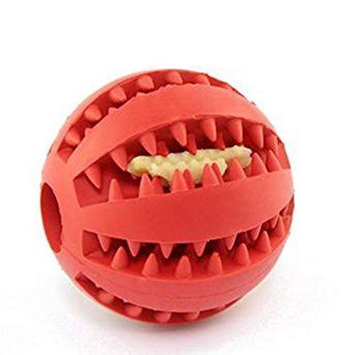 Ari_Mao Haustier-Hundezahn-Ball-Naturkautschuk-elastische Haustier-Ball-Spielwaren beständig, um Spielzeug-Rot zu beißen