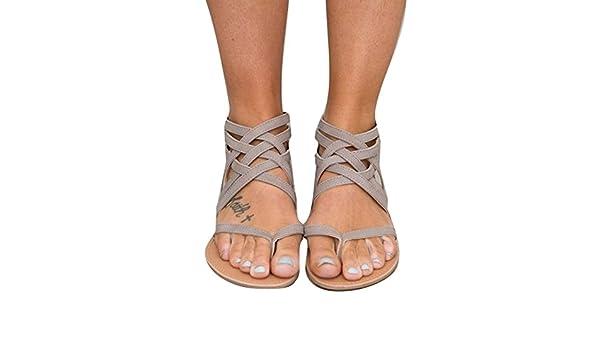 c0b627b7bb803e Infradito Sandali Donna - Moda Estiva Donne Fasciatura Boemia Tempo Libero  Signora Sandali Donna da Estate/Piatti/Modello con Infradito: Amazon.it:  Scarpe e ...