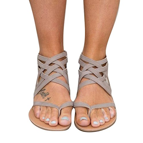 Infradito sandali donna - moda estiva donne fasciatura boemia tempo libero signora sandali donna da estate/piatti/modello con infradito