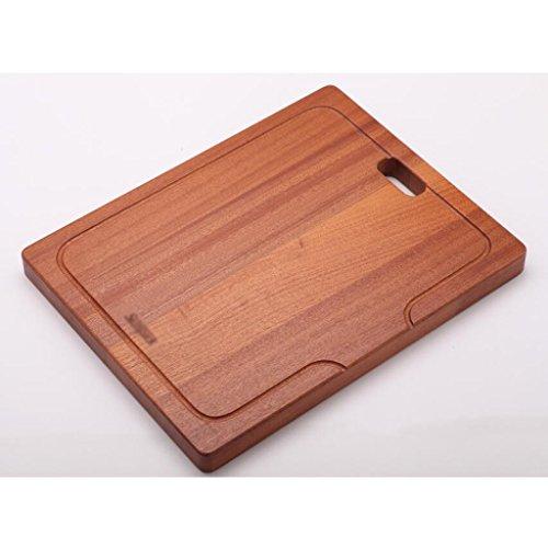 Wddwarmhome Panneau de découpe en bois massif carré Ustensiles de cuisson Taille de la table cuite: 41 * 32cm