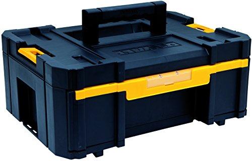 DeWalt Tstak III Transportbox, stabelbare Werkzeugbox (Schubladen-Box mit 6 zusätzlichen Inset-Boxen, kombinierbar mit anderen Tstak-Boxen, sichere Verwahrung von Elektrowerkzeugen und Handwerkzeugen), DWST1-70705 (3-schubladen-werkzeug-box)