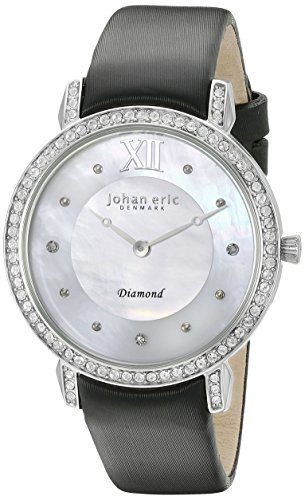 Johan Eric je7000–04de la mujer–009.11hueca analógico pantalla Cuarzo Negro Reloj