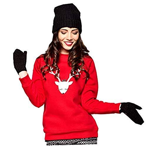 Dasongff Weihnachtspullover Familie, Unisex Weihnachten Pullover Damen Elch Rentier Pulli Herren Kinder Weihnachtspullis Christmas Weihnachts Xmas Jungen Mädchen Sweatshirt
