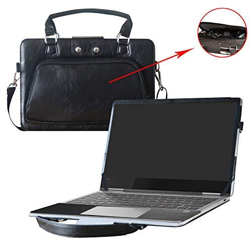 Yoga 730 13 Hülle,2 in 1 Spezielles Design eine PU Leder Schutzhülle + Portable Laptoptasche für 13.3