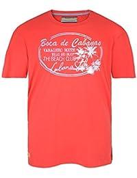 Camiseta roja Redfield con estampado en talla grande