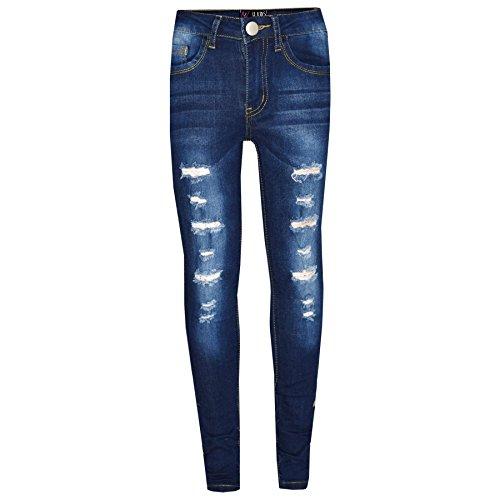 A2Z 4 Kids A2Z 4 Kids® Kinder Mädchen Dünn Jeans Designer Denim Zerrissen - Girls Jeans M617 Dark Blue 3-4
