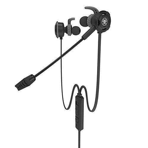 DyNamic Plextone G30 Gaming Earphone Lärm Absage Wired Control Kopfhörer Mit Mic Für Telefon Computer - Schwarz