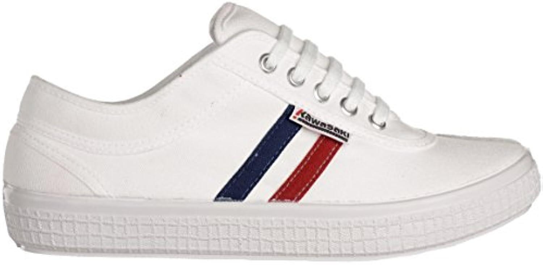 Kawasaki Benson Unisex Erwachsene Sneakers Weiß White  Billig und erschwinglich Im Verkauf