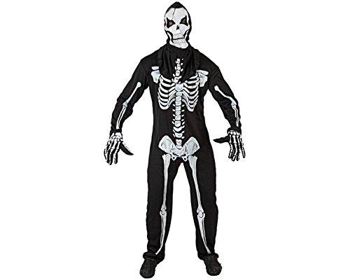 Atosa - Disfraz Esqueleto para hombre adulto - talla color, negro, XXL (39083)