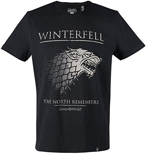 GOZOO Game of Thrones T-Shirt Herren The North Remembers Sehr Hochwertiger Druck Schwarz
