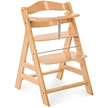 6f44e573e8ee Hauck Alpha+ Wooden Height Adjustable Highchair with 5 Point Harness