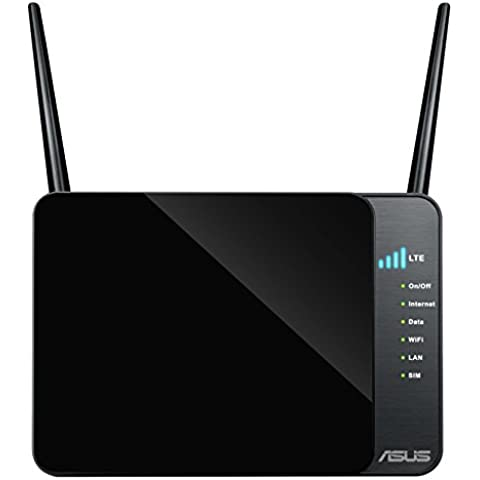 ASUS 4G-N12 - Router inalámbrico N300 3G/4G LTE (hasta 100 Mbps, CAT3, SIM/USIM, con soporte Dual-WAN)
