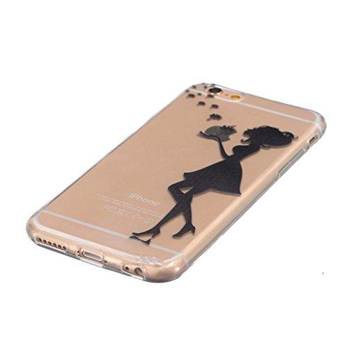 """iphone 6s Coque / iphone 6 -4.7"""" [Clair] MYTH Transparente Housse, Silicone Ultra Mince Doux TPU Étui de Protection Bumper Cover Mignon Dessin animé Mode Fille"""